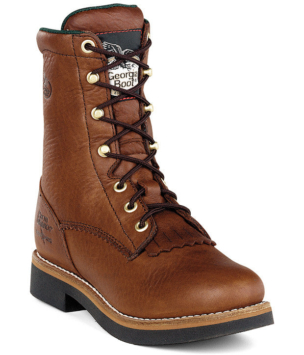 Georgia:  Men's Waterproof Lacer Western Work Boots