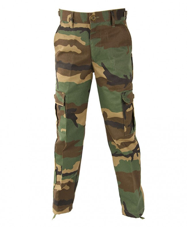 Propper Pants: Kids Camo BDU R/S Pants Woodland