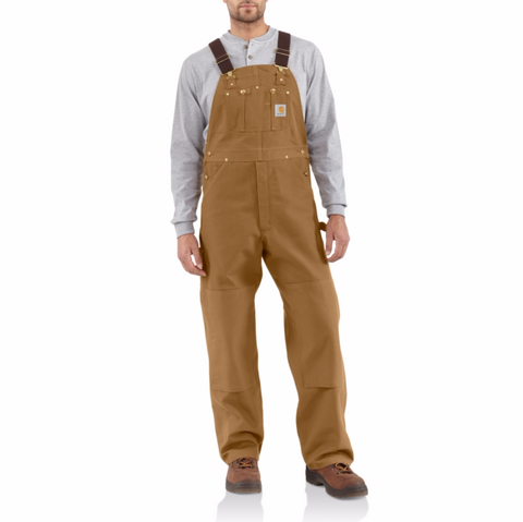 Carhartt Overalls: Cotton Duck Bib Overall - Brown