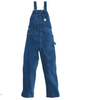 Carhartt Overalls: Washed Cotton Denim Bib Overalls Unlined Darkstone
