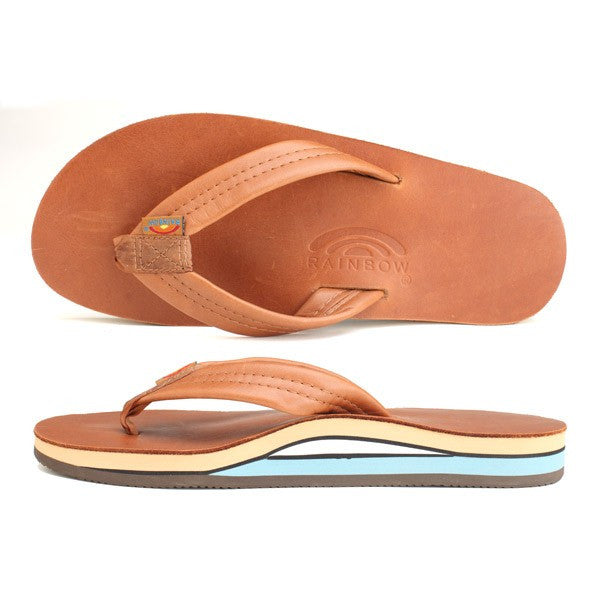 c0b00426de3a Rainbow Women s Double Layer Premier Leather with Arch Support Sierra  Tan Blue