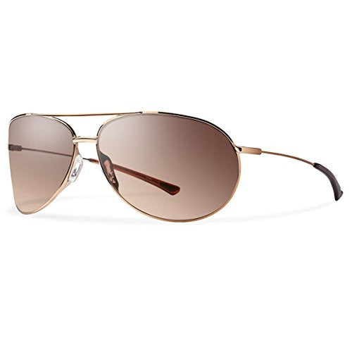 Smith Optics Rockford Sunglasses, Rose Gold Frame, Sienna Gradient Carbonic Tlt Lenses