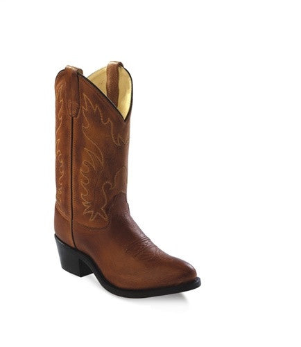 89e659a494fe0 Old West Kids Western Boots - Tan Canyon