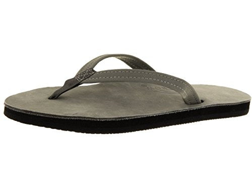 Rainbow Women's Single Layer Premier Leather w/ Arch Support Grey Thin Strap