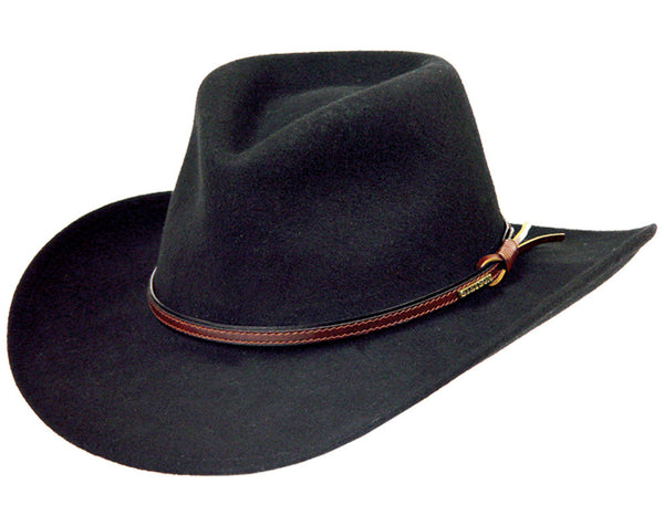 Stetson Hats: Bozeman Crushable Hat Black
