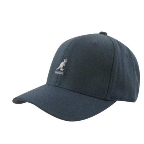 Kangol Hats: Wool Flex Fit Cap Dark Blue