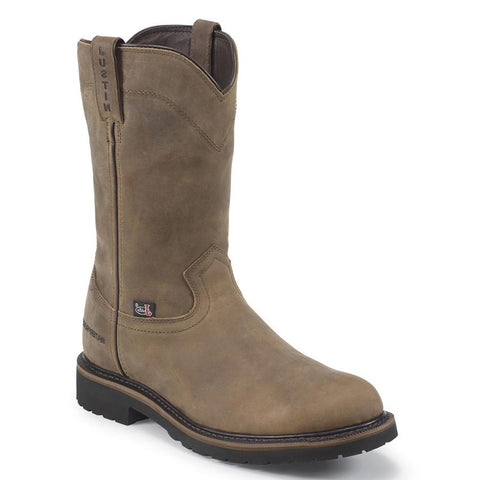 "Justin Boots: Men's Wyoming 10"" Waterproof Steel Toe Work Boots"