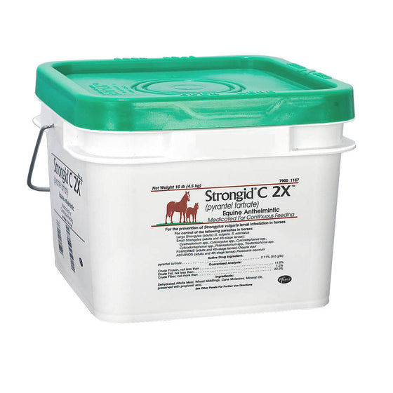 Strongid C 2X Horse Daily Feed Through Wormer