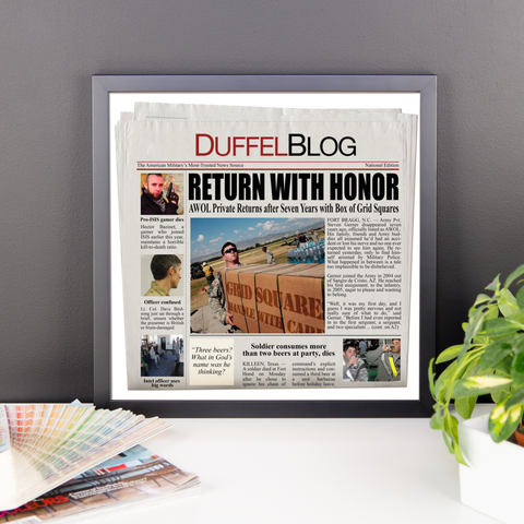 Duffel Blog Front Page News Poster