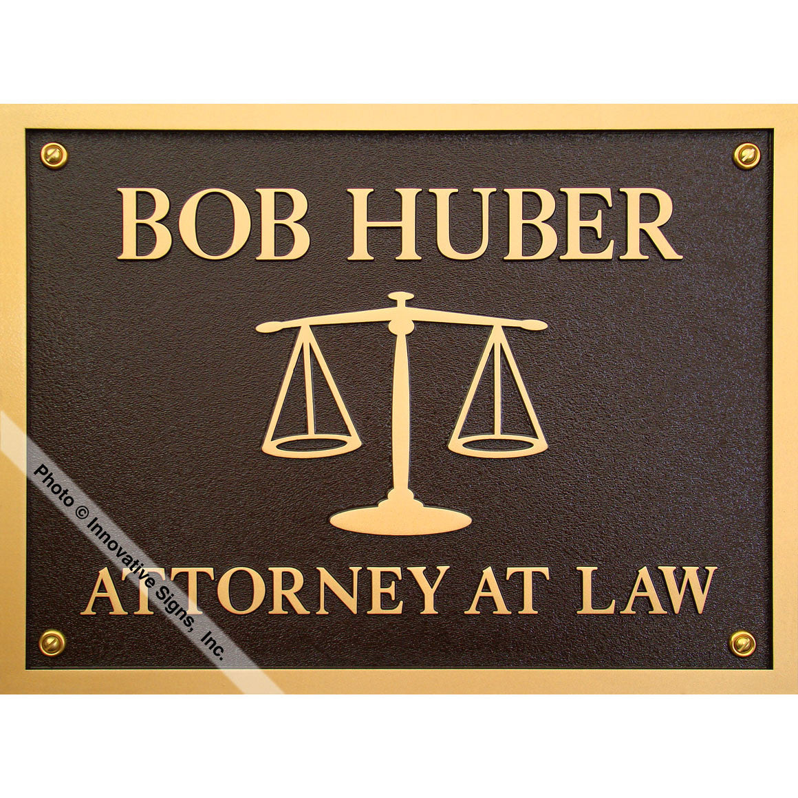 High Quality Huber Style 3470 DuraBronze™ Law Office Sign / Plaque ...