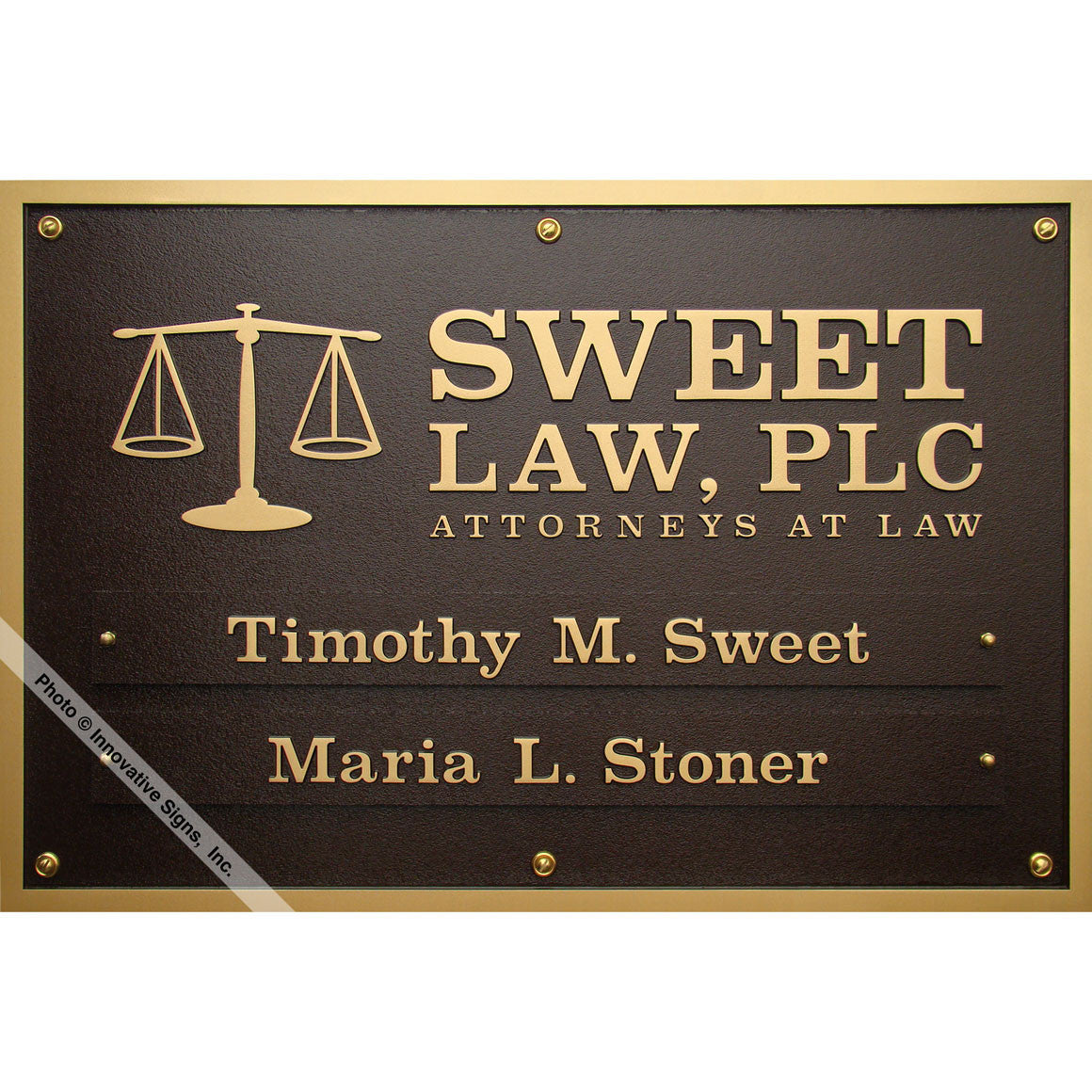 Sweet Style 6635 DuraBronze™ Law Office Sign / Plaque ...