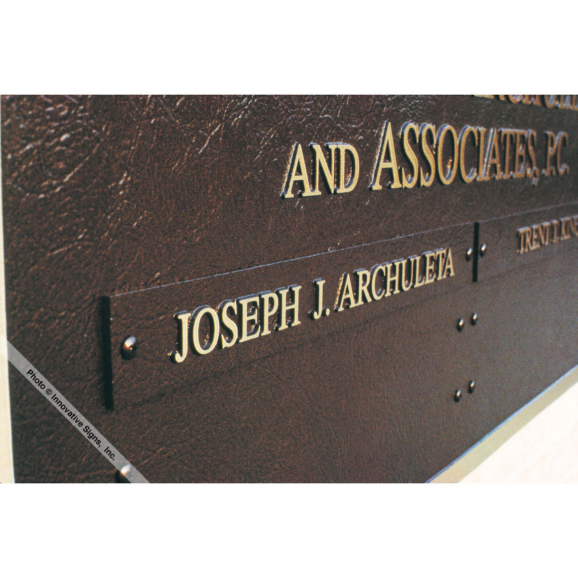 Metal Law Office Plaques - Law Office Signs
