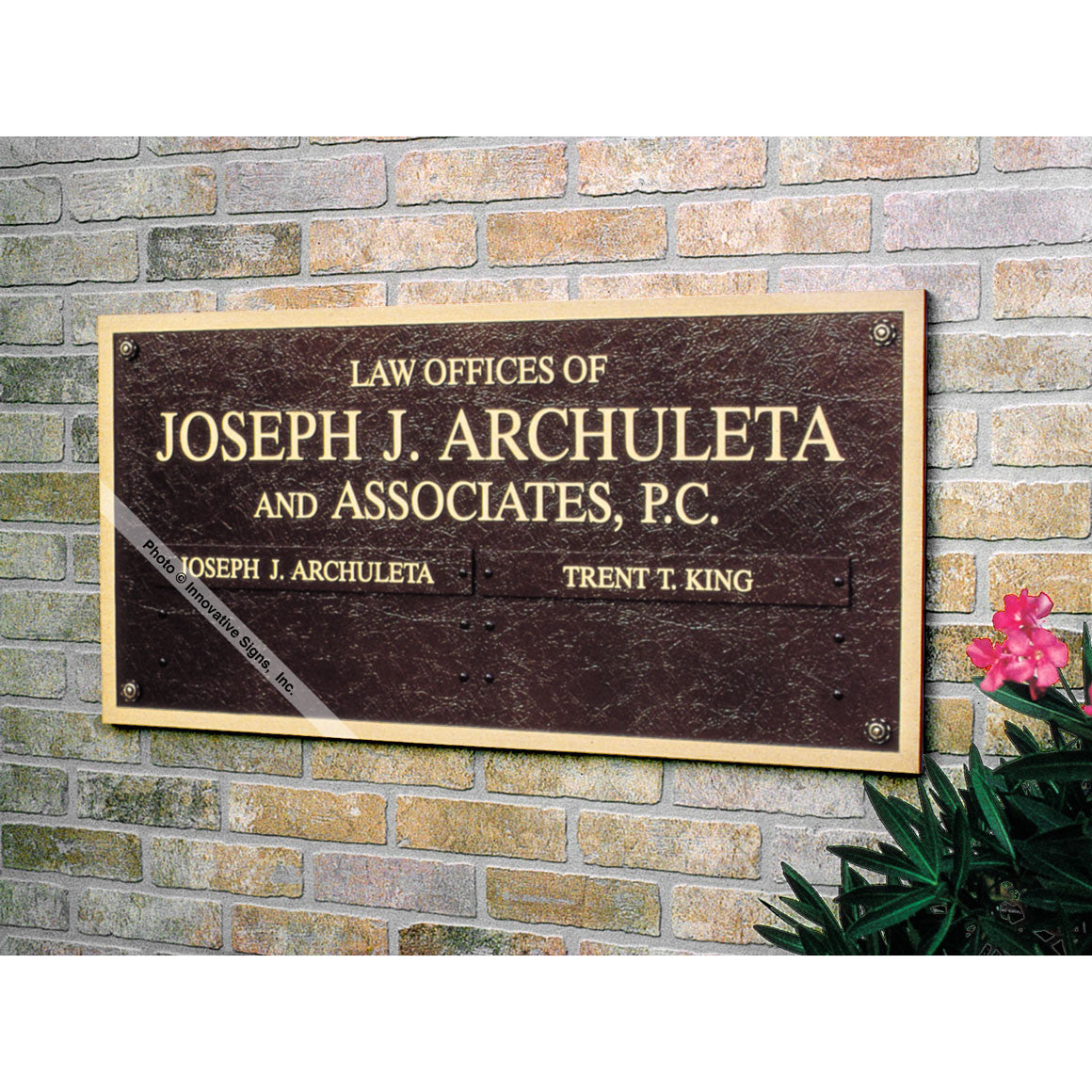 ... Right View: Archuleta Style 24875 Cast Bronze Law Office Sign ...