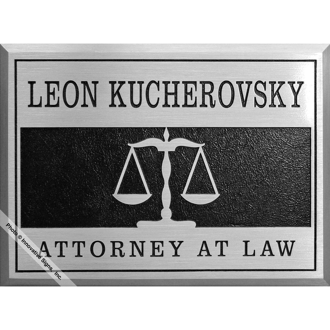law office sign chestney style25695 machined aluminum plaque law office signs. Black Bedroom Furniture Sets. Home Design Ideas