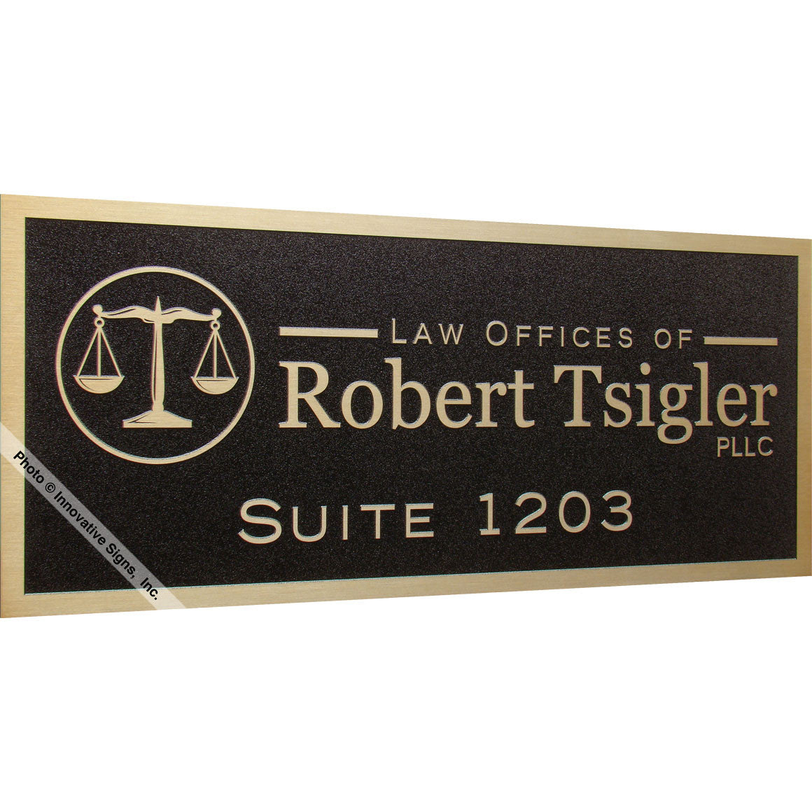 Delightful ... Left View: Tsigler Style 41252 Etched Bronzetone Zinc Law Office Sign  Plaque ...