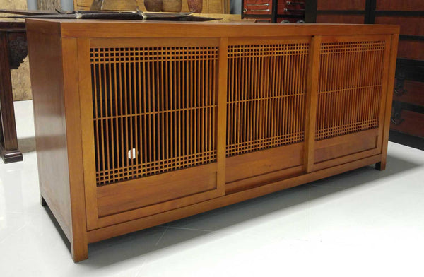Sliding Lattice Doors - Buffet or TV Cabinet 72 x 24 x 34