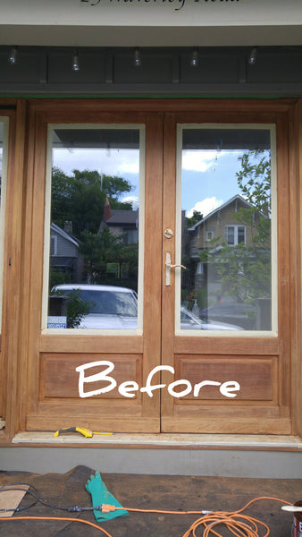 Wooden front & patio doors  are a great feature when it comes to your home's curb appeal. However, years of exposure to sunlight, rain, snow and frost can significantly damage an exterior wood door and leave it looking worn out. With regular maintenance, your wood door can last for decades. But if your exterior door has been neglected for some time, it may be time for some serious restoration.