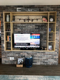 Custom built  & designed TV unit made from poplar wood