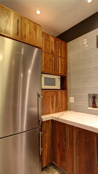 Inde-Art reclaimed wood kitchens. Custom kitchen cabinets and reclaimed wood cabinet door & drawer fronts. Can be customized to fit exsisting boxes & drawers including IKEA