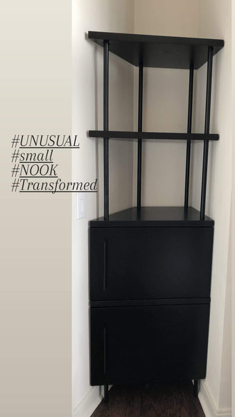 An unusual space you don't know what to with it!!  Awkward spaces call for creative design solutions.  Embrace that empty corner, oddly shaped nook with a right piece of furniture  and you can add style and function to any tricky spot in your home.