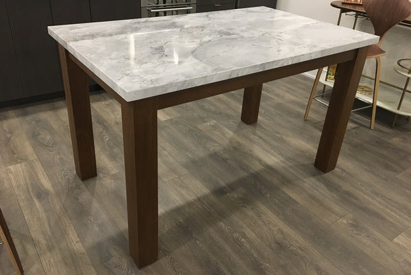 "A custom build 36"" high kitchen table or island , Frame build from solid poplar wood , with a stunning natural stone top.  Size - 5ft x 3ft x 3ft (ht)"