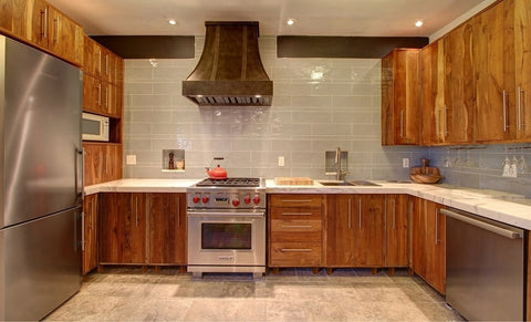 Inde-Art reclaimed wood kitchens. Custom kitchen cabinets and reclaimed wood cabinet door & drawer fronts. Can be customized to fit exsisting boxes & drawers including IKEA.