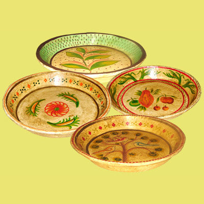 Handcrafted & hand painted  paper mache round trays.