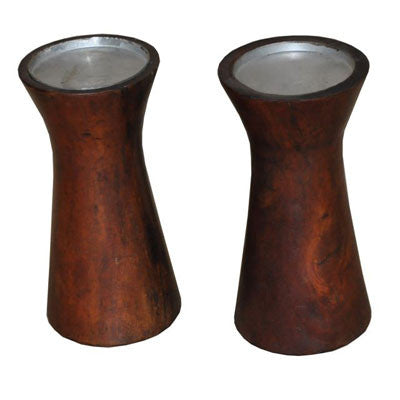 Solid Indian rose wood candle holder.