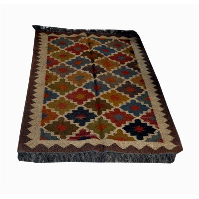 Hand woven woolen  rug in assorted colors & designs