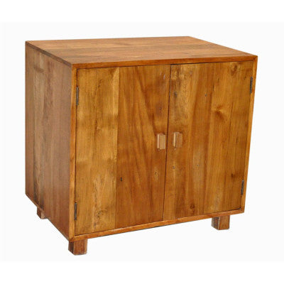"36"" wide  2 door reclaimed teak wood kitchen base cabinet or a vanity cabinet."