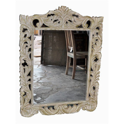Hand craved solid wood mirror frame