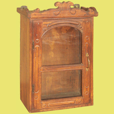 Solid Indian rose wood medicine or spice cabinet.