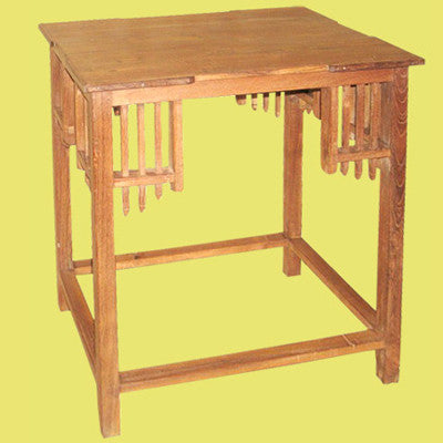 Solid teak wood end table