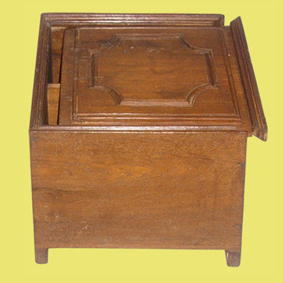 Vintage solid teak wood  hand crafted & carved box with a sliding lid , Traditional Indian or Rajasthani style home decor  & solid wood furniture.