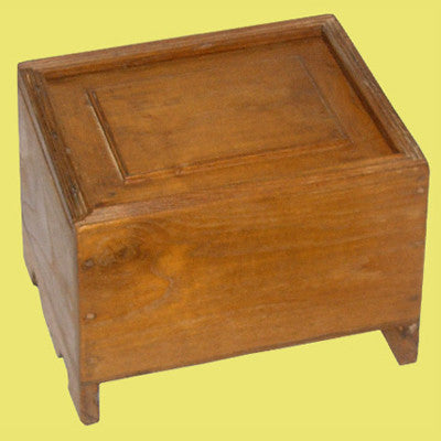 Vintage solid teak wood  hand crafted & carved box with a sliding lid ,Traditional Indian or Rajasthani style home decor  & solid wood furniture.
