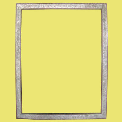 Stamped sheet metal mirror frame with mirror