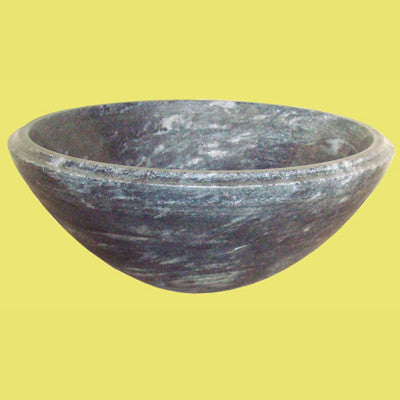 Round marble sink - black color