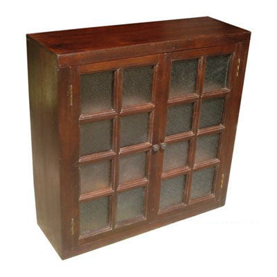 "36"" wide  2 door solid Indian rose wood upper or wall cabinet."