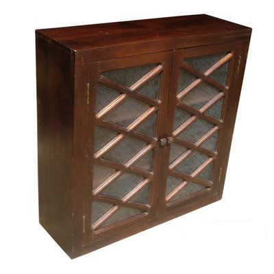 "36"" wide  double door solid Indian rose wood upper or wall cabinet."