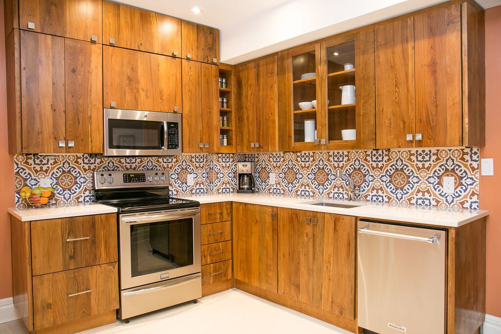 Inde-Art custom build kitchen cabinets with solid reclaimed ...