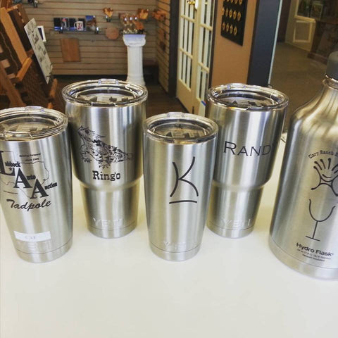 Engraving Stainless Steel Cups like Yeti and Hydroflask – Woodshed Gifts