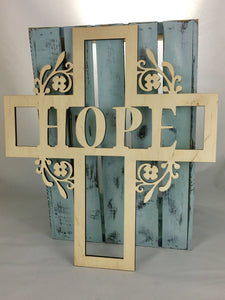 "18"" Tall HOPE Cross"