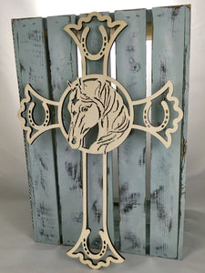 "18"" Tall Horse Cross"