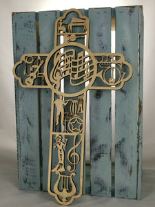 "18"" Tall Music Cross"