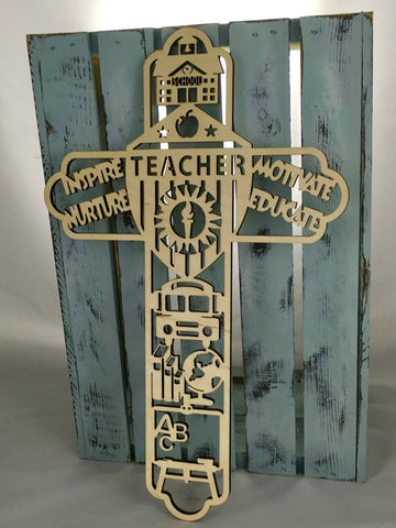 "18"" Tall Teacher Cross"