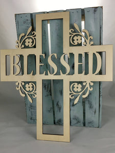 "18"" Tall BLESSED Cross"