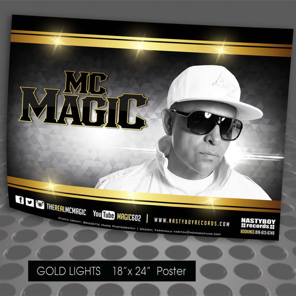 "MC MAGIC POSTER ""Gold Lights"" LARGE 18""x24"""