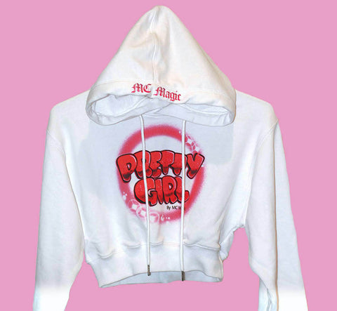 Pretty Girl Cropped Hoodie by MC Magic LIMITED EDITION