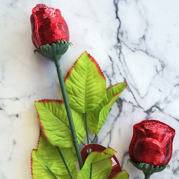 Chocolate Stemmed Rose