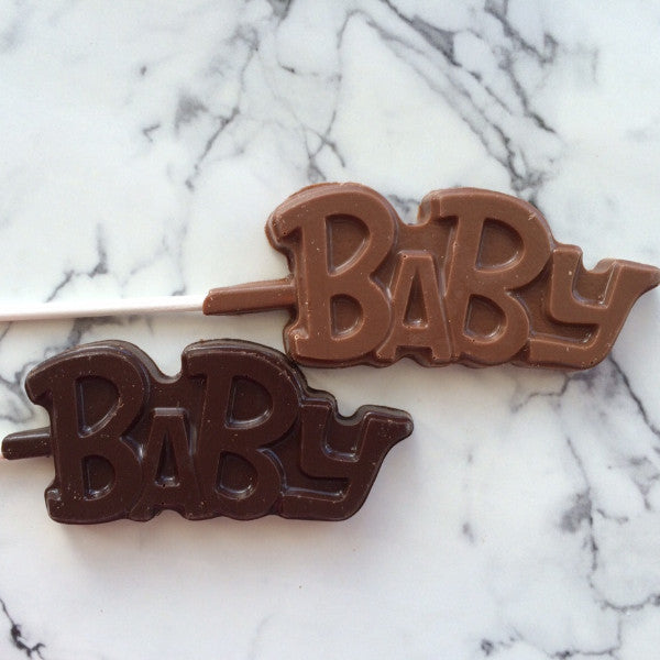 Baby lollipop makes cute birth announcement.